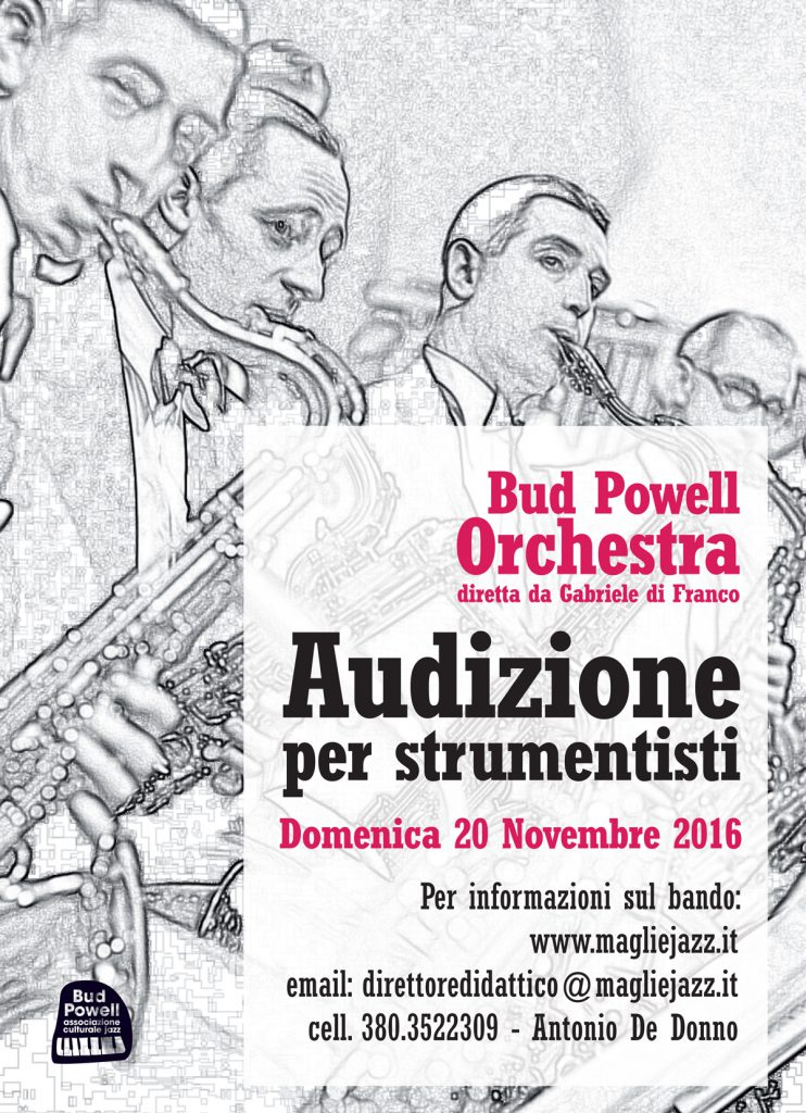audizione-bigband-2016 Bud Powell