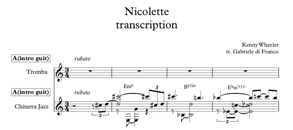 Nicolette - Kenny Wheeler