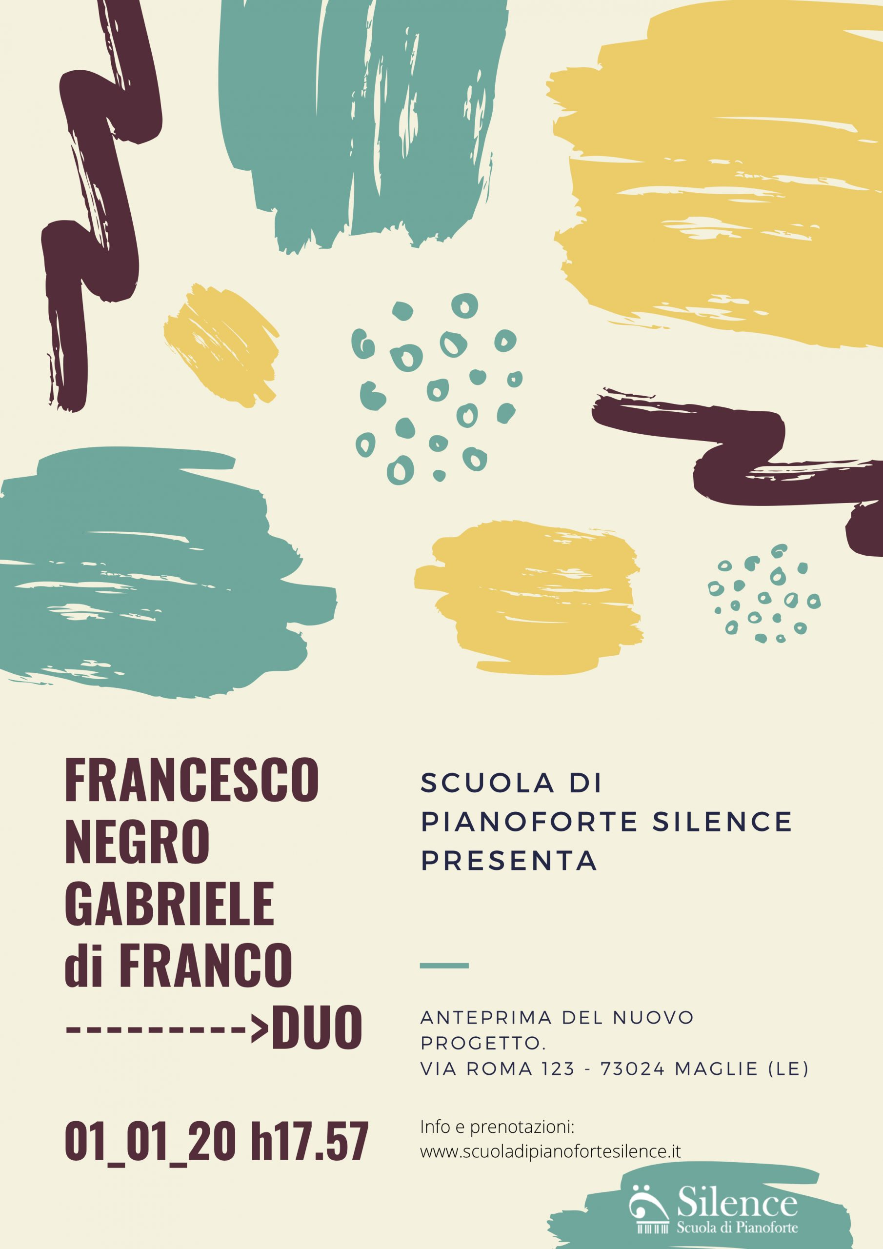 POSTER Negro di Franco duo 010120